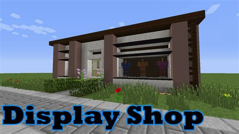 how to build a shop minecraft display clothes shop tutorial youtube