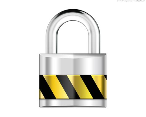 Alarm Lock silver padlock security icon psdgraphics