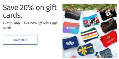 Rbc Gift Card Register - rbc rewards cyber monday 20 off gift cards includes apple music iphone ipad mac