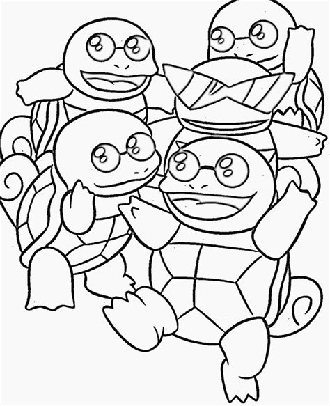 turtle pokemon coloring page squirtle squad coloring pages sketch coloring page