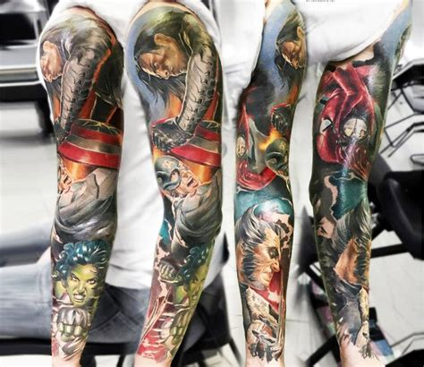 marvel tattoo sleeve 44 best arm images on marvel