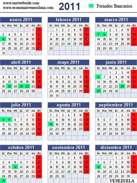 Calendario Bancario Calendario Bancario 2011