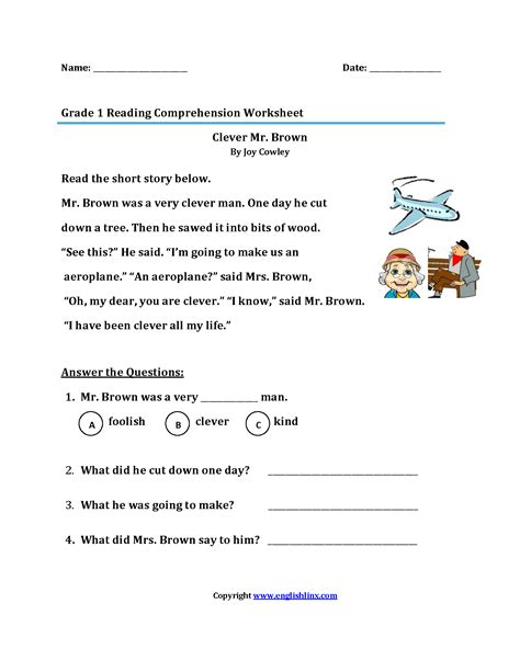 Reading Worksheets For 1st Graders by Reading Worksheets Grade Reading Worksheets