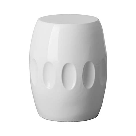 Ceramic Stool White by White Ceramic Garden Stool Seven Colonial