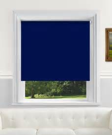 Sunscreen Roller Blind Navy Blackout Wire Free Electric Roller Blind
