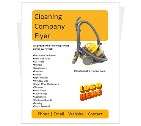 38 Company Flyer Templates Psd Ai Indesign Word Free Premium Templates Cleaning Flyers Templates Free