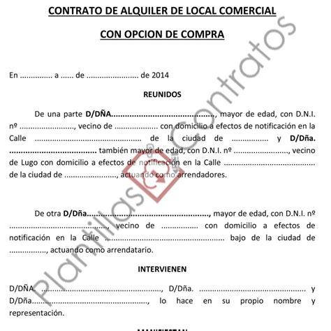 contrato de arrendamiento de local comercial contrato de arrendamiento de un local comercial 244a