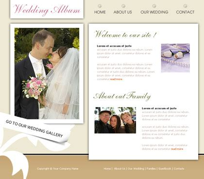 Wedding Website Template Learnhowtoloseweight Net Wedding Website Templates