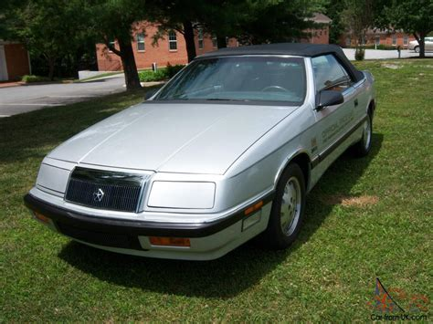 87 Chrysler Lebaron by 87 Chrysler Lebaron Indy 500 Pace Car Replica