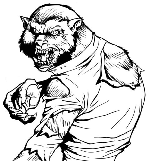 werewolf coloring pages online werewolf color me now by b2thec on deviantart