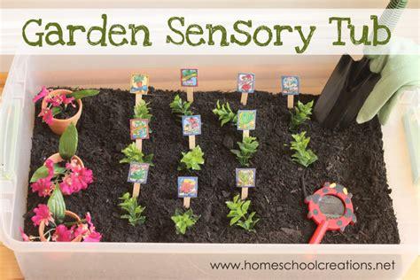 preschool garden ideas garden sensory tub