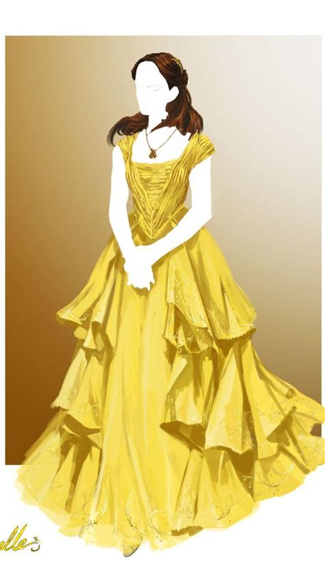 emma s belle s yellow gown from beauty and the beast a emma watson s belle ditches the corset and princess title