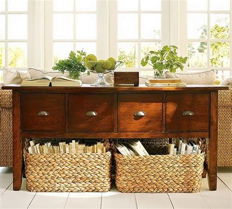 Ideas For Console Table With Baskets Design Decorating With Baskets 18 Everyday Ideas Tidbits Twine