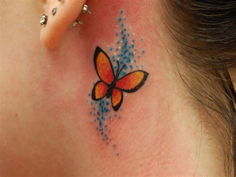 butterfly tattoo behind the ear behind the ear butterfly female tattoos design idea
