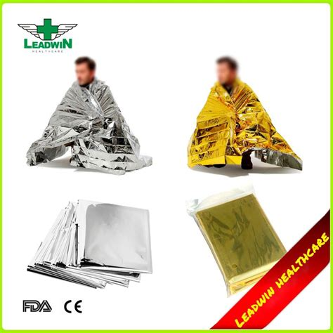 Emergency Blanket Gold Selimut Pencegah Hepotermia aid use foil silver gold thermal disposable emergency blanket buy emergency
