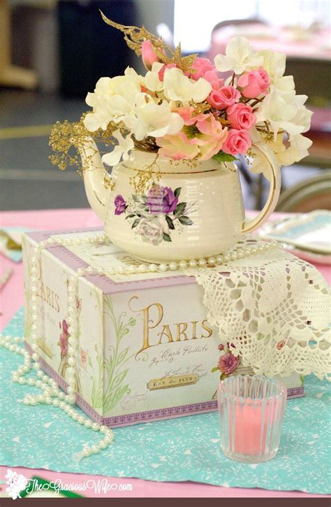 Tea Bridal Shower Decorations by 25 Best Ideas About Teapot Centerpiece On Tea