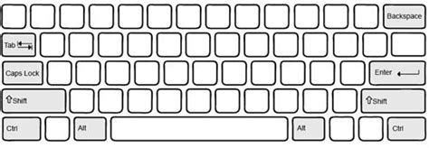 pin blank qwerty keyboard printable layout on pinterest