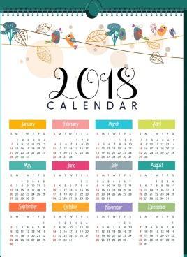 illustrator monthly calendar template 2018 2018 calendar template bright multicolored modern design