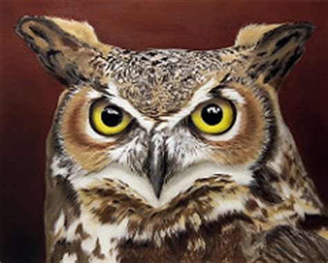 Canvas 3d 3 Dimensi Burung Hantu great horned owl acrylic painting acrylic and airbrush