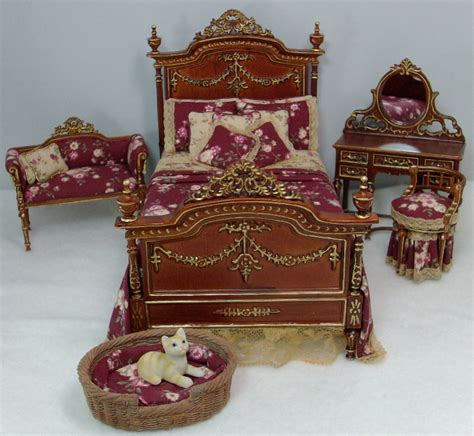 Dollhouse Bedroom Set by Bedroom Set Dollhouse Miniatures By Deb S Minis