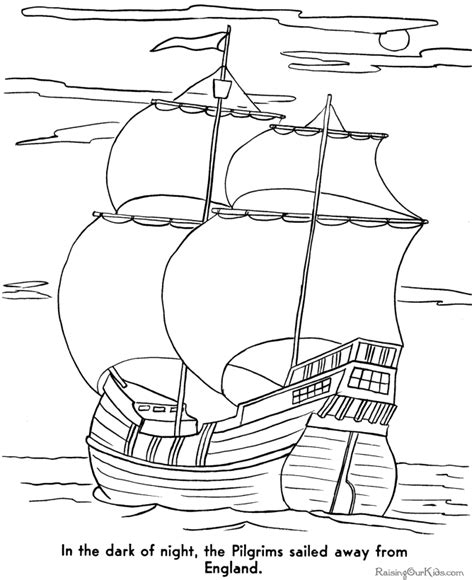 mayflower coloring page free pilgrims mayflower coloring pages thanksgiving