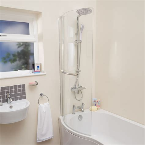 curved shower screens bath curved shower bath screen with towel rail
