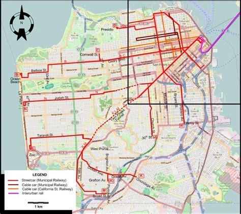 cable car san francisco map cable car routes maps autos post