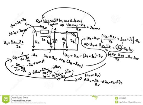 diagram equations circuit diagram and equations royalty free stock