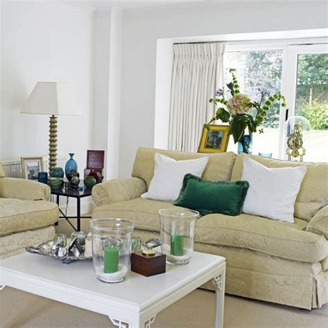 Living Room With Green Accents Living Room With Green Accents Housetohome Co Uk