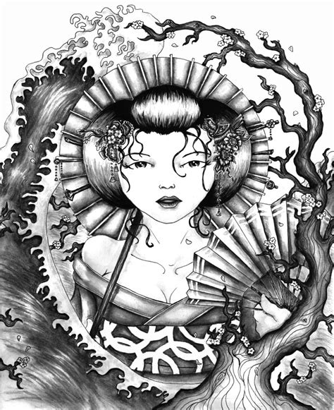 tattoo design contest geisha design contest by