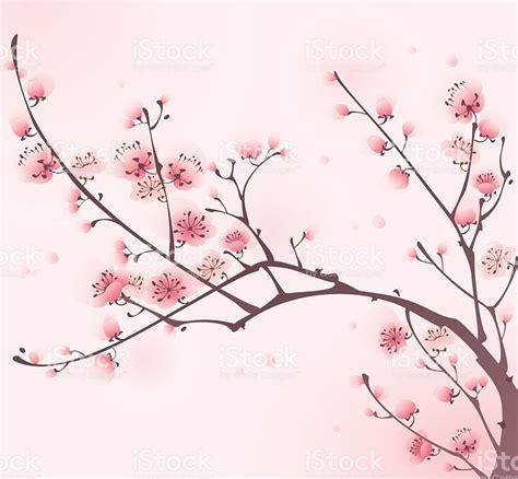 fiori di ciliegio dipinti dipinto in stile orientale fiore di ciliegio in primavera