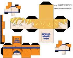The great world of papercraft reto abc g de goku