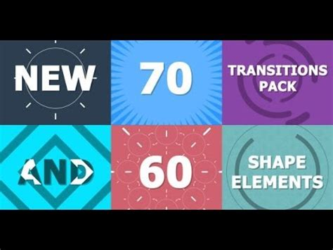 After Effects Transition Templates 70 transitions pack after effects template