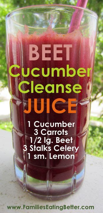 Vegetable Smoothie Detox Diet by Beet Cucumber Cleanse Vegetable Juice Recipes