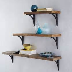 Wood Shelf Bracket Designs by Reclaimed Wood Shelving Brackets West Elm