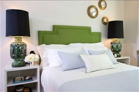 green headboard contemporary bedroom samantha pynn