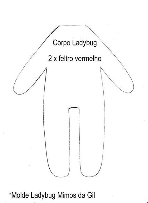 Feltro Fácil Moldes e Apostilas: Ladybug em Feltro - Molde