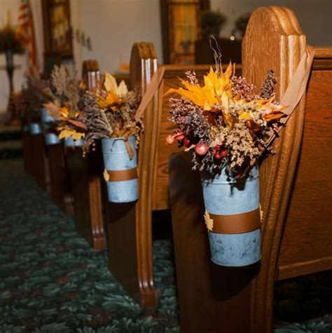 fall pew decorations for weddings fall wedding decor pew decorations pew decorations