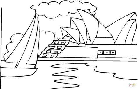 coloring page of sydney opera house coloring page of sydney opera house archives kids