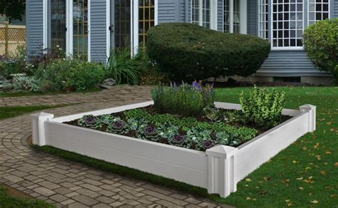 Plastic Raised Planter Boxes by Decorative Vinyl Versailles Raised Garden Planter Flower