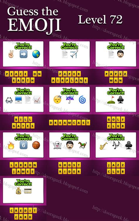 guess the emoji film and girl guess the emoji level 72 answers and cheats doors geek