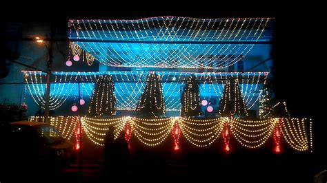 indian wedding light decoration youtube
