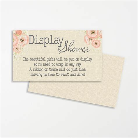 Baby Shower No Wrapping Paper Wording by Display Shower Wedding Printable Printable Bridal Display
