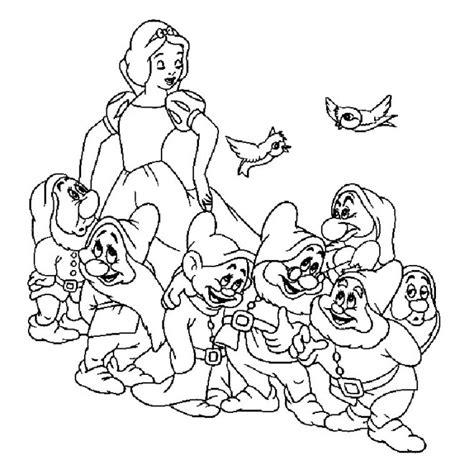 Coloriage Blanche Neige Et Les 7 Nains Dessin Gratuit 224