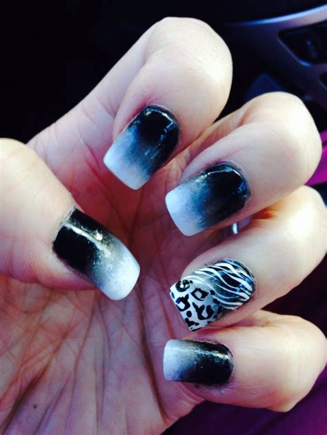 ombre pattern nails black and white ombre nails style pinterest white