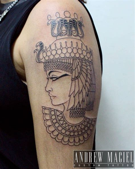 cleopatra tattoo primeira sess 227 o da da cleopatra feita na