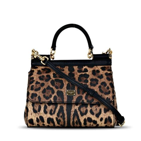 Dg Dolce And Gabbana Floral Canvas Satchel by Dolce Gabbana Sicily Medium Leopard Print Coated Canvas