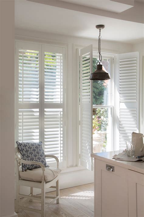 transform any room with white wooden shutters