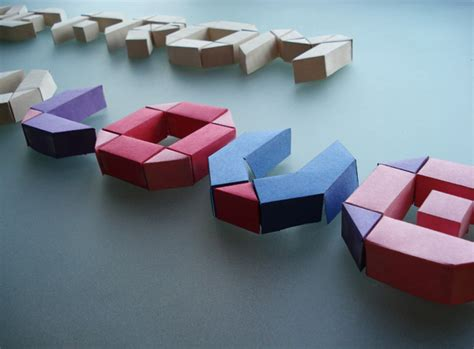 3d Origami Letters - paper typeface on behance