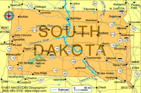 sd map atlas south dakota